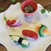 風庵 - 料理写真:地域のお野菜を鮮やかなお寿司に