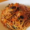 ワイン食堂GOTETSU. - 料理写真:茄子と大葉おじゃこのトマトソース