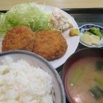はらぺこ - メンチカツ定食 650円