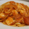 トラットリア カルマ - 料理写真:イタリアモッツァレラとトマトソースのリングイネ