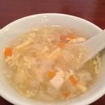 翡翠楼 - ランチのスープ