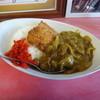マルケイ食堂 - 料理写真:半分かつカレー