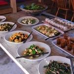 みちくさ能勢 - 前菜、サラダのビュッフェスタイル