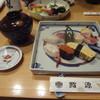 鮨源 - 料理写真:数量限定ランチメニュー:にぎり(1260円)お椀、サラダ付