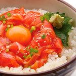どんまる - サーモンユッケ丼590円