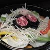 そら豆 - 料理写真:コース(3000円)の野菜盛り合わせと生ラム肩ロース