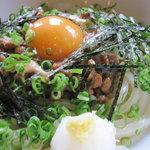 喜三郎 - 月見納豆ぶっかけのアップ