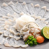 一乃喜 - 料理写真:ふぐ刺身山盛りコースの1名分のふぐ刺身