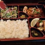 レストラン こつこつ亭 - Bランチ ハンバーグステーキ&フライ付膳