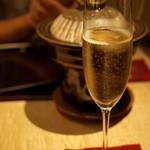 個室会席 北大路 - シャンパンで乾杯