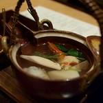 """個室会席 北大路 - """"椀物:松茸土瓶蒸し 松茸・鱧・季節の野菜"""""""