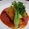 プチ・フレーズ - 料理写真:ランチ(主菜_鮭のソテーと季節の野菜)