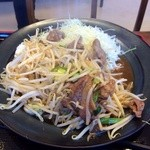 お肉の産直 ヴィラ工房 - ラム焼肉定食¥680