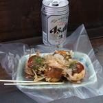 たこ焼き 大ちゃん - ビールハーフセット