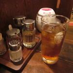 八仙閣 杏仁坊 - ウーロン茶は温と冷が選べます