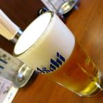 もつ焼き 肉の佐藤 - アサヒスーパードライ420円