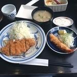 浜勝 - ロースかつランチ+えびフライ