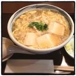 手打ちそば 友庵 - 豆腐かき玉そば。 そばもツユも豆腐もたまごも美味い。 やるな、大将!