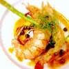 キッチンバー混 - 料理写真:天然特大車海老と帆立貝柱のポアレ焦がしバターのケッパーソース