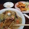 餃子の王将 - 料理写真:皿うどん&唐揚げ