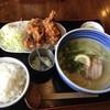 ラーメンはっちゃき - 料理写真:鯛塩ラーメン、唐揚げセット