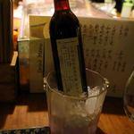 かじしか - 赤ワインのボトルにしました