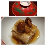 風乃音 - 南関揚げの博多蒸し・・こういうお料理にしては珍しく「餡」のお味付けが濃い目で好みです。
