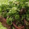 グリーンランド - 料理写真:牛肉網焼きネギポン酢 1,000円