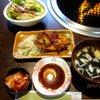 やきにく亭登斗 - 料理写真:定食セット(チヂミ・サラダ・スープ・キムチ)!(2013,10/20)