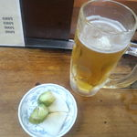 八栄亭 - 生ビールと付き出