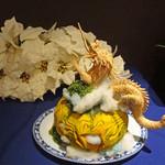 中国料理 XVIN - 包丁で作るカボチャとドラゴン