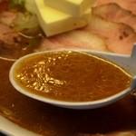 さっぽろ純連 - 味玉みそチャーシュー スープ