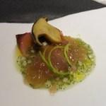 レストラン ラ フィネス - アミューズ キツネ(ハガツオ)のマリネ