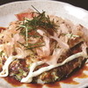 """まつかさ - 料理写真:◆山芋ステーキ""""ぼて""""「515円」。女性人気NO.1!ふわふわの中身がSO GOOD♪♪♪"""