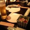 旬肴やまさ季 - 料理写真:生ビールと付け出し