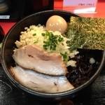 麺処 次男房 - 油そば大盛り、半熟味付玉子