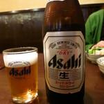 焼鳥鳥末 - ビンビール500円