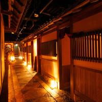 京都の街並みを再現したかのような空間