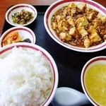 福来苑 - 麻婆豆腐定食(ご飯大盛り)