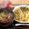 玉も亭 - 料理写真:醤油ベースの濃厚なタレが魅力『肉ナスつけ麺』