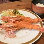 洋食春 - 2013/10 有頭エビフライ(1,000円)