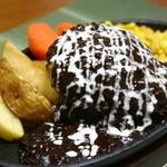 ハンバーグレストラン まつもと - ハンバーグステーキ【特製ブラックデミグラスソース】