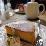 グロヴナーカフェ - かぼちゃのチーズケーキ