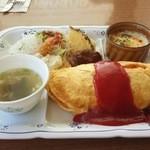 レストラン ポポロ - オムセット大盛り 750円+150円