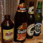 カラバッシュ - ビール:マルタギネスは一番左