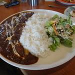 レストランひげじい - 山形村ビーフいっぱいハヤシライスの大盛り