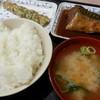 いも膳 - 料理写真:ご飯¥135、さば煮¥220 竹輪天¥70