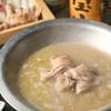 水道橋 鳥福 - 料理写真:水炊き 鶏ガラを8時間かけてじっくり炊いたコラーゲンたっぷり白濁スープ