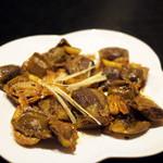 チャミヤラキッチン - 砂肝とガーリック炒め
