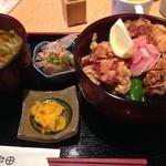 薩摩うどん - おい丼のセット